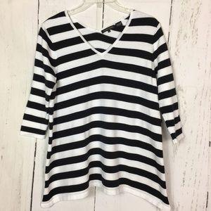 Jeanne Pierre Black & White Cotton Shirt